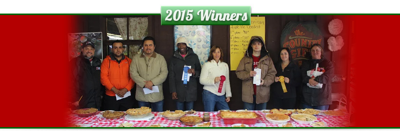Apple Stir Festival Pie Baking Competition Winners at MacQueen Orchards, in Holland, Ohio.