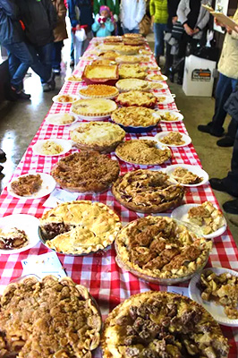 The apple pie baking competition is fierce at the annual Apple Pie Competition at the Apple Stir Fall Harvest Festival at MacQueen Apple Orchard, Cider Mill, Farm Market, and Pick Your Own Apples, Holland, Ohio, west of Toledo