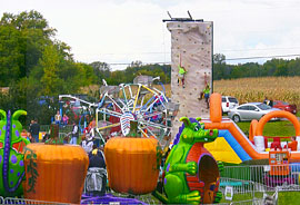 All sorts of fun rides, farm animals, u-pick apples and more fun at the Apple Stir Fall Harvest Festival at MacQueen Apple Orchard, Cider Mill, Farm Market, and Pick Your Own Apples, Holland, Ohio, west of Toledo