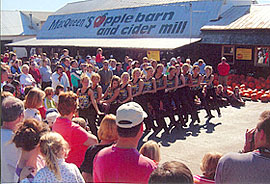 Local dancers from Holland, Toledo and area cities perform at the Apple Stir Fall Harvest Festival at MacQueen Apple Orchard, Cider Mill, Farm Market, and Pick Your Own Apples, Holland, Ohio, west of Toledo