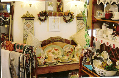 Great selection of ceramics, pottery, potpourri, candles, wall hangings, cookie jars and more at Martha's Gifts & Boutique at the MacQueen Apple Orchard, Cider Mill, Farm Market, and Pick Your Own Apples, Holland, Ohio, west of Toledo
