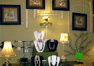 Beautiful and unique jewelry at Martha's Gifts & Boutique at the MacQueen Apple Orchard, Cider Mill, Farm Market, and Pick Your Own Apples, Holland, Ohio, west of Toledo