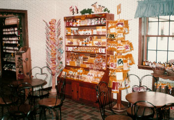 Old fashioned candies, caramel apples, sandwiches and fresh baked treats  at the Bakery & Sweet Shop at MacQueen Apple Orchard, Cider Mill, Farm Market, and Pick Your Own Apples, Holland, Ohio, west of Toledo